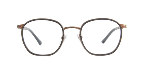 Persol - PO2469V Brown Oval Men Eyeglasses - 50mm