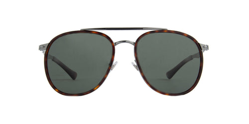 Persol - PO2466S Gunmetal/Havana Aviator Men Sunglasses - 56mm