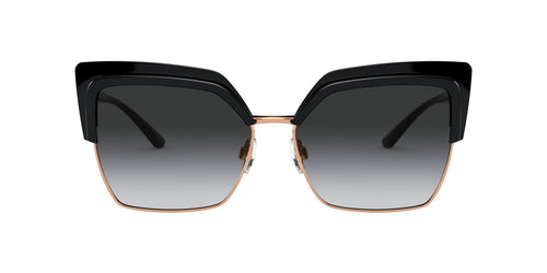 Dolce Gabbana - DG6126 Black Pink Gold/Grey Gradient Butterfly Women Sunglasses - 60mm