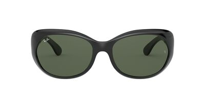 Ray Ban - RB4325 Black/Green Square Women Sunglasses - 59mm
