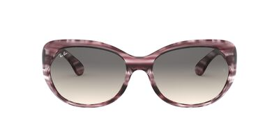 Ray Ban - RB4325 Stripped Bordeaux Havana/Grey  Dark Grey Gradient Square Women Sunglasses - 59mm