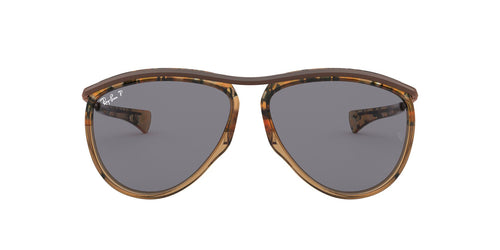Ray Ban - RB2219 Grad Havana Brown On Tr Brown Aviator Unisex Sunglasses - 59mm