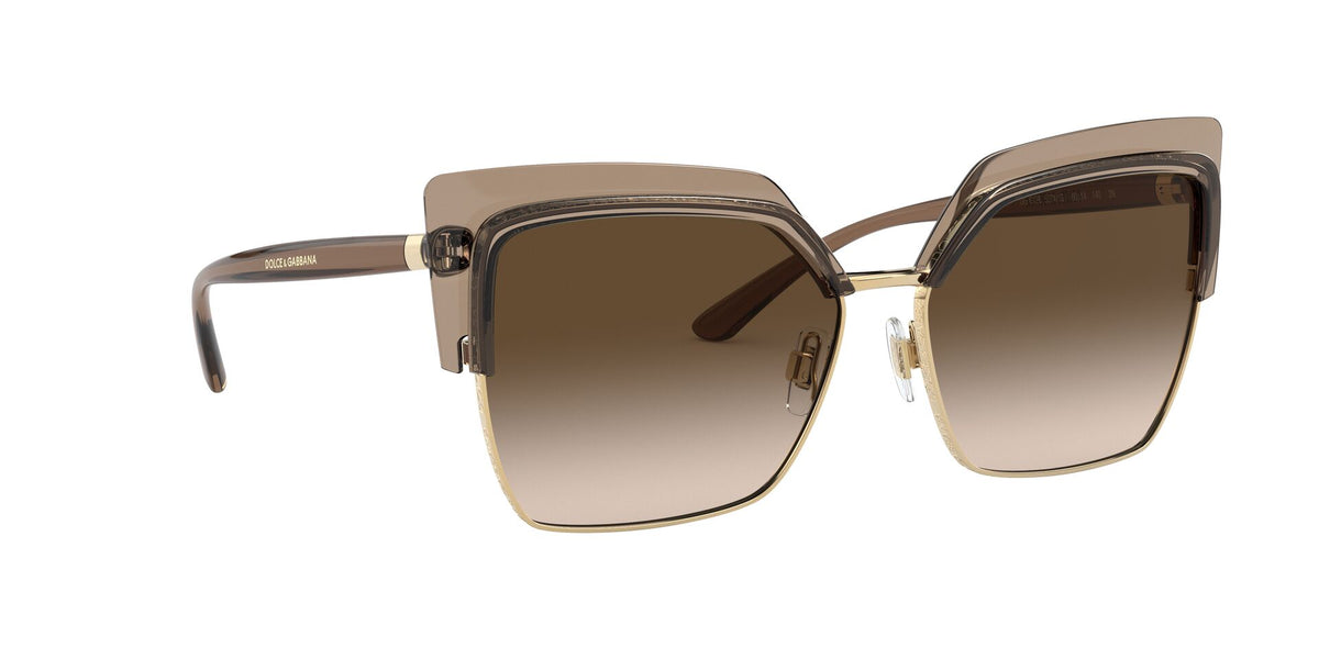Dolce Gabbana - DG6126 Transparent Brown/Brown Gradient Butterfly Women Sunglasses - 60mm