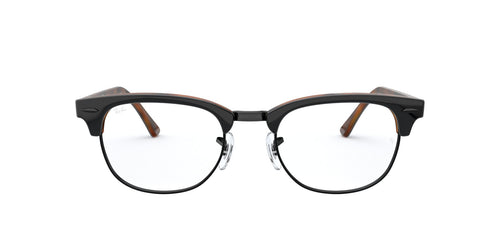 Ray Ban Rx - RX5154 Top Grey On Havana Square Unisex Eyeglasses - 51mm