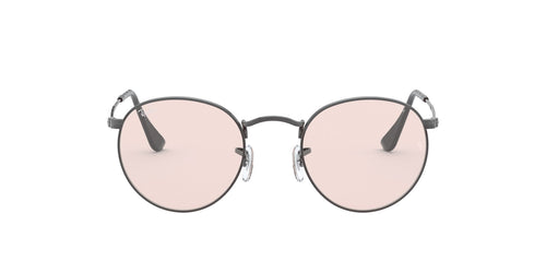 Ray Ban - Round Solid Evolve Gunmetal/Light Pink Phantos Men Sunglasses - 53mm