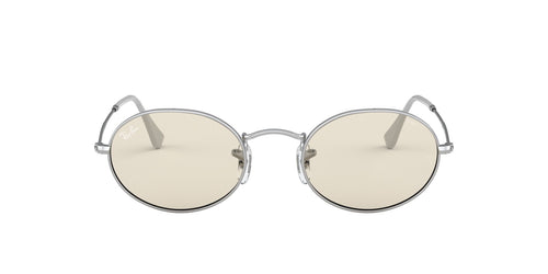 Ray Ban - Oval Solid Evolve Silver Unisex Sunglasses - 54mm