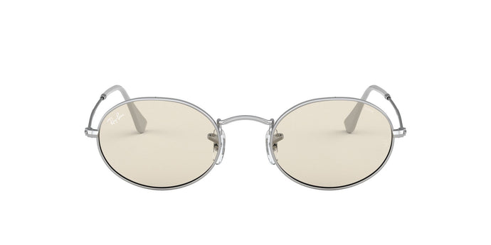 Ray Ban - Oval Solid Evolve Silver/Light Brown Oval Unisex Sunglasses - 54mm