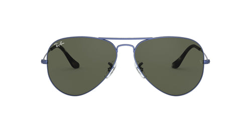 Ray Ban - Aviator Classic Sand Trasparent Blue/Green Unisex Sunglasses - 55mm