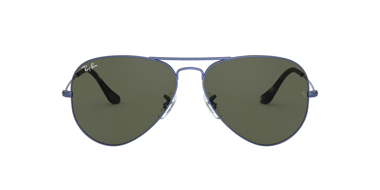 Ray Ban - Aviator Classic Sand Trasparent Blue/Green Unisex Sunglasses - 62mm