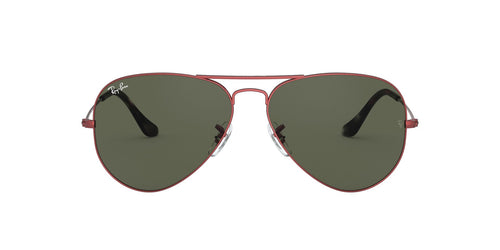Ray Ban - Aviator Classic Sand Trasparent Red Unisex Sunglasses - 62mm