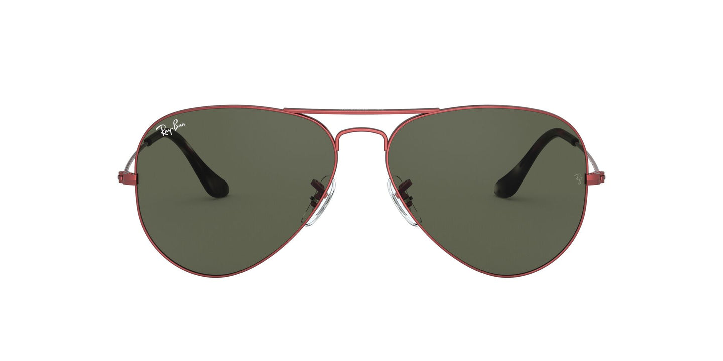 Ray Ban - RB3025 Sand Trasparent Red Aviator Unisex Sunglasses - 62mm