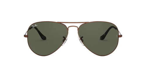 Ray Ban - Aviator Classic Sand Trasparent Brown/Green Unisex Sunglasses - 62mm