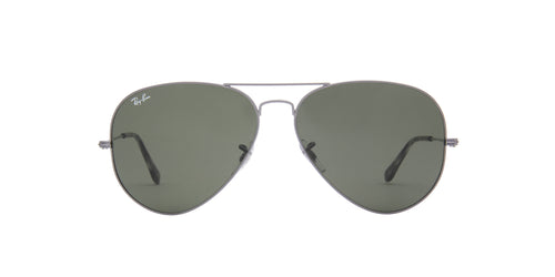 Ray Ban - Aviator Classic Sand Transparent Grey Unisex Sunglasses - 62mm