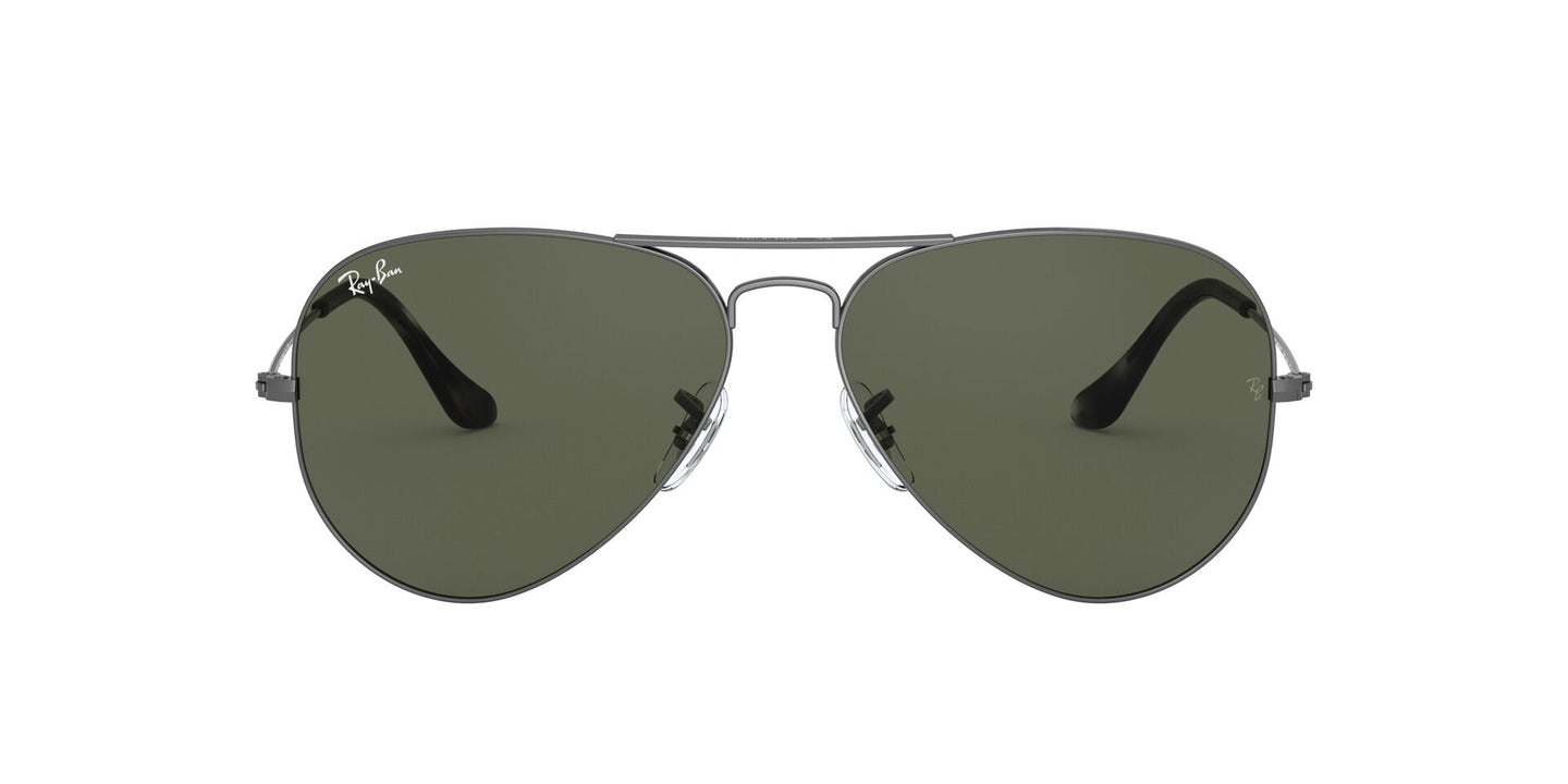 Ray Ban - Aviator Classic Trasparent Grey/Green Unisex Sunglasses - 58mm