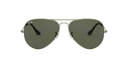 Ray Ban - Aviator Green/Green Unisex Sunglasses - 62mm
