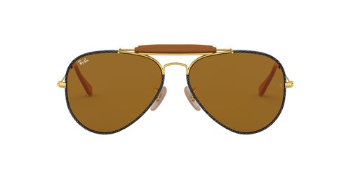 Ray Ban - RB3422Q Gold Aviator Men Sunglasses - 58mm
