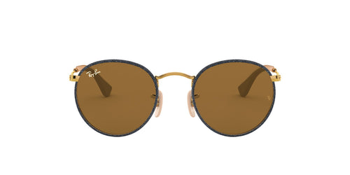 Ray Ban - Round Craft Gold/Blue Jeans/Brown Phantos Men Sunglasses - 50mm