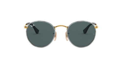 Ray Ban - Round Craft Gold/Dark Grey Phantos Men Sunglasses - 50mm