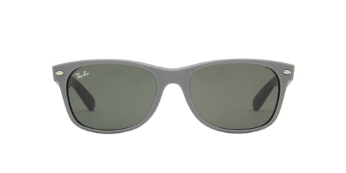 Ray Ban - New Wayfarer Top Rubber Black Wayfarer Unisex Sunglasses - 55mm