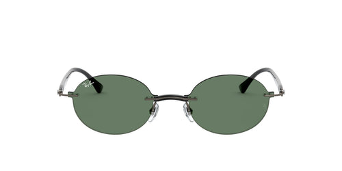 Ray Ban - RB8060 Dark Gunmetal Oval Unisex Sunglasses - 54mm