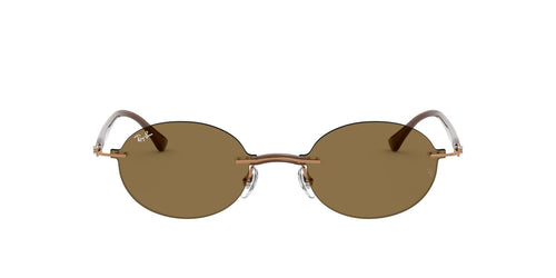 Ray Ban - RB8060 Light Brown Oval Unisex Sunglasses - 54mm