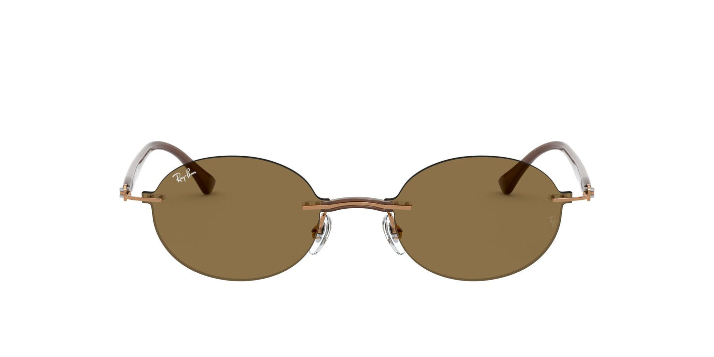 Ray Ban - RB8060 Light Brown/Dark Brown Oval Unisex Sunglasses - 54mm