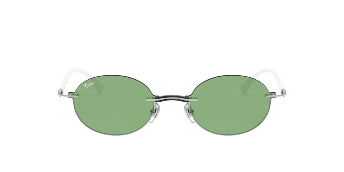 Ray Ban - RB8060 Silver/Dark Green Oval Unisex Sunglasses - 54mm