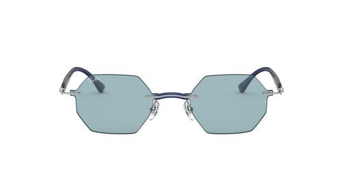 Ray Ban - RB8061 Gunmetal/Blue Oval Unisex Sunglasses - 53mm
