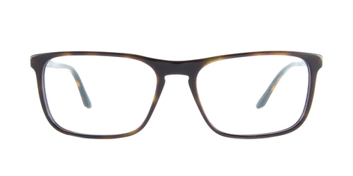 Starck - SH3026 Havana Black Rectangular Men Eyeglasses - 56mm