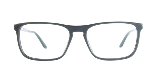 Starck - SH3026 Blue Crystal Rectangular Men Eyeglasses - 56mm