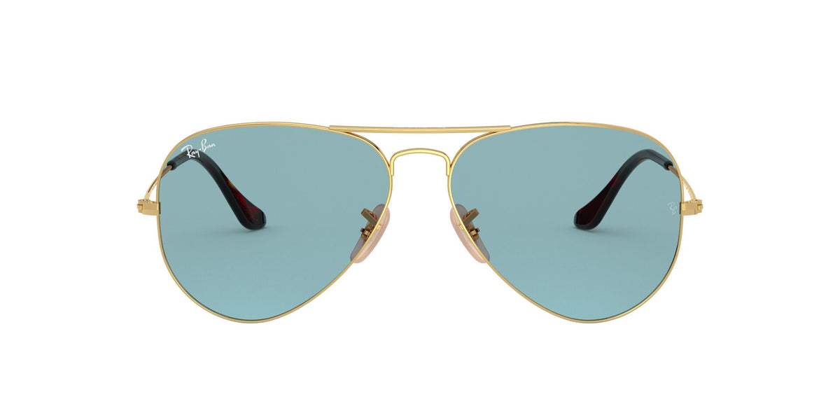 Ray Ban - Aviator Gold/Light Blue Unisex Sunglasses - 62mm