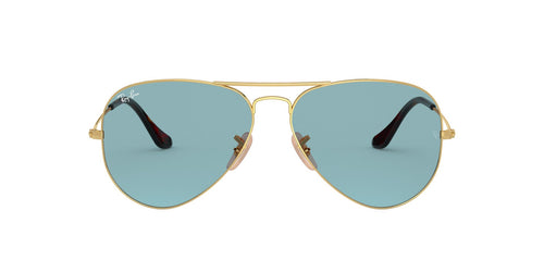 Ray Ban - RB3025 Gold Aviator Unisex Sunglasses - 62mm