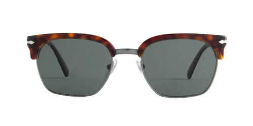 Persol - PO3199S Gunmetal/Havana Rectangular Men Sunglasses - 53mm