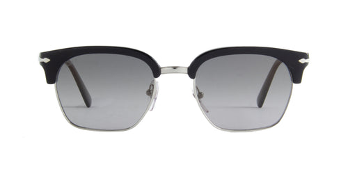 Persol - PO3199S Silver/Black Rectangular Men Sunglasses - 53mm