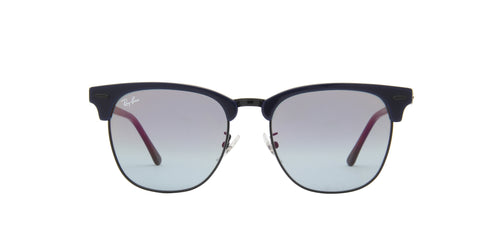 Ray Ban - Clubmaster Top Blue On Havana Red Oval Unisex Sunglasses - 55mm