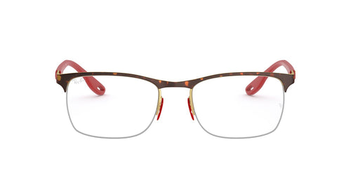 Ray Ban Rx - RX8416M Top Havana On Gold Square Men Eyeglasses - 54mm
