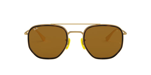 Ray Ban - RB3748M Gold Square Unisex Sunglasses - 52mm