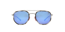 Ray Ban - RB3748M Gunmetal/Green Blue Mirror Square Unisex Sunglasses - 52mm