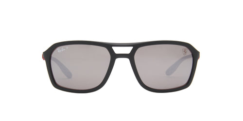 Ray Ban - RB4329M Matte Black Square Men Sunglasses - 57mm