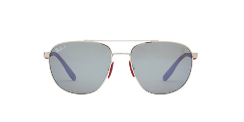 Ray Ban - RB3659M Silver Square Men Sunglasses - 57mm