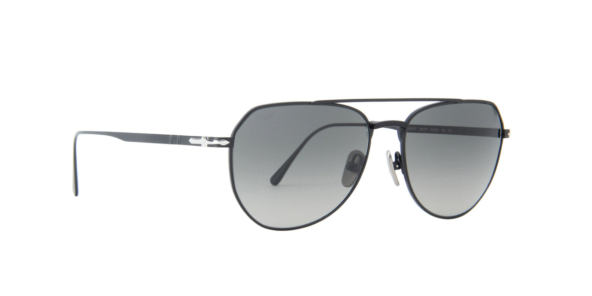 Persol - PO5003ST Black/Grey Gradient Dark Grey Aviator Unisex Sunglasses - 54mm