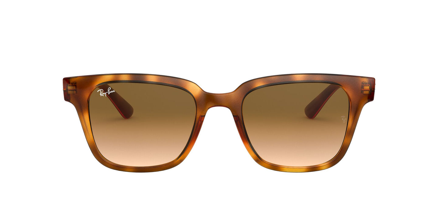 Ray Ban - RB4323 Yellow Light Havana/Clear Gradient Brown Square Unisex Sunglasses - 51mm