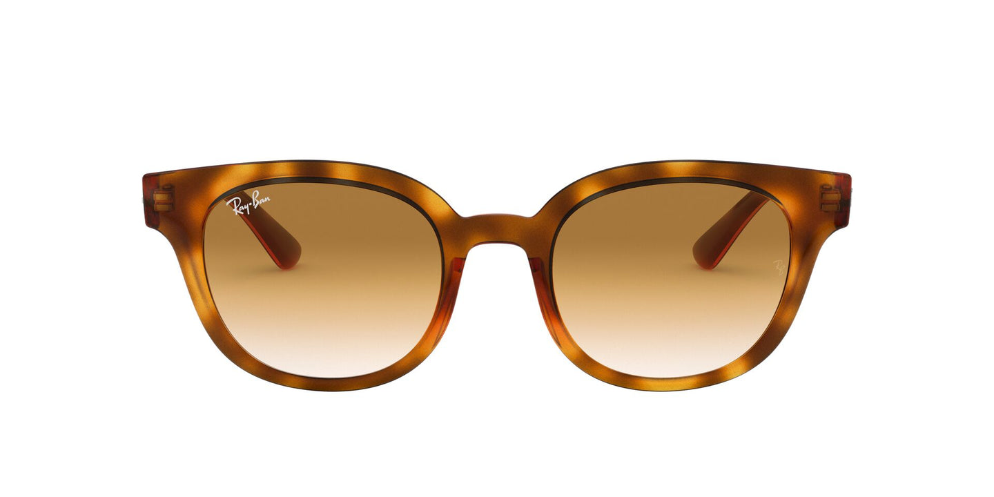 Ray Ban - RB4324 Yellow Light Havana Square Unisex Sunglasses - 50mm