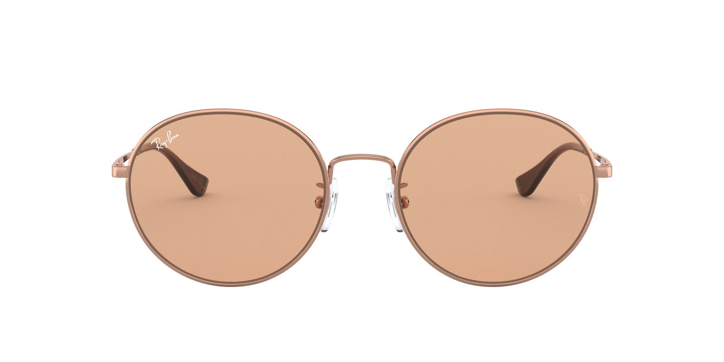 Ray Ban - RB3612 Copper/Brown Round Unisex Sunglasses - 56mm