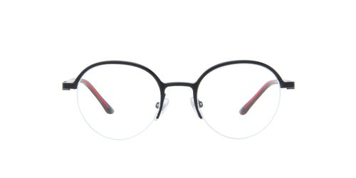 Starck - SH2050 Matte Black/Demo Lens Round Men Eyeglasses - 49mm