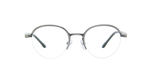 Starck - SH2050 Antique Ruthenium/Demo Lens Round Men Eyeglasses - 49mm