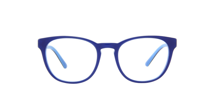 Starck - SH3058 Blue/Demo Lens Oval Men Eyeglasses - 50mm