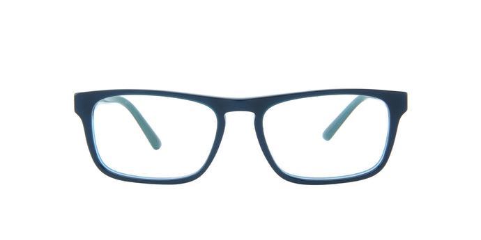 Starck - SH3059 Light Blue/Demo Lens Rectangular Men Eyeglasses - 53mm