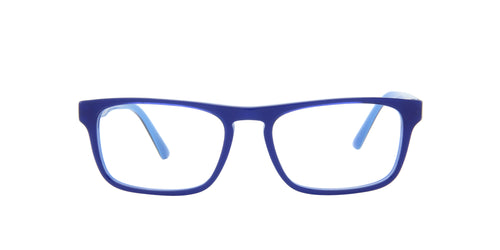 Starck - SH3059 Blue/Demo Lens Rectangular Men Eyeglasses - 53mm