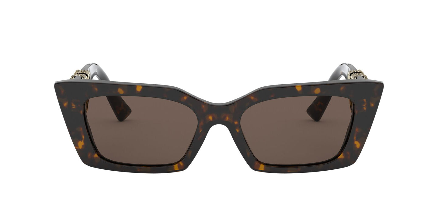 Valentino - VA4074 Havana Cat Eye Women Sunglasses - 54mm